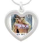 Welcome to Texas! #884 Silver Heart Necklace