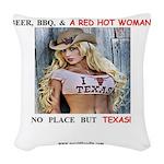 Welcome to Texas! #884 Woven Throw Pillow