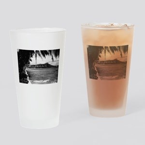 Honolulu, Hawaii - View of Diamond Head Drinking G