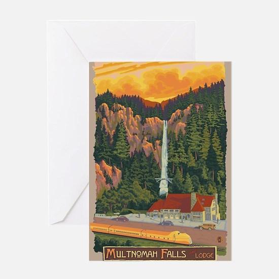 Multnomah Falls, Oregon Greeting Cards