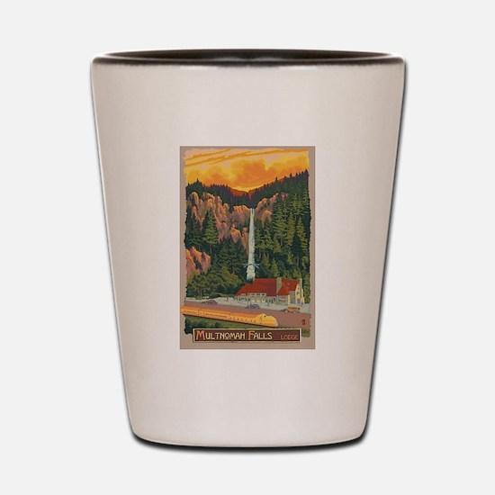 Multnomah Falls, Oregon Shot Glass