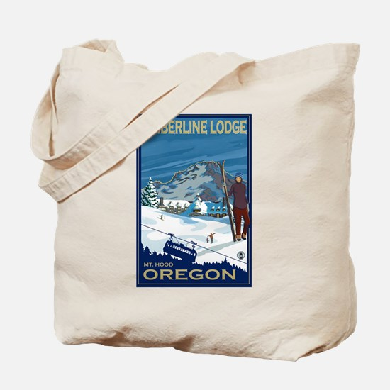 Mt Hood, Oregon - Timberline Lodge Tote Bag