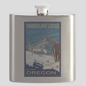 Mt Hood, Oregon - Timberline Lodge Flask