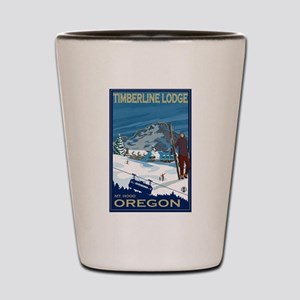 Mt Hood, Oregon - Timberline Lodge Shot Glass