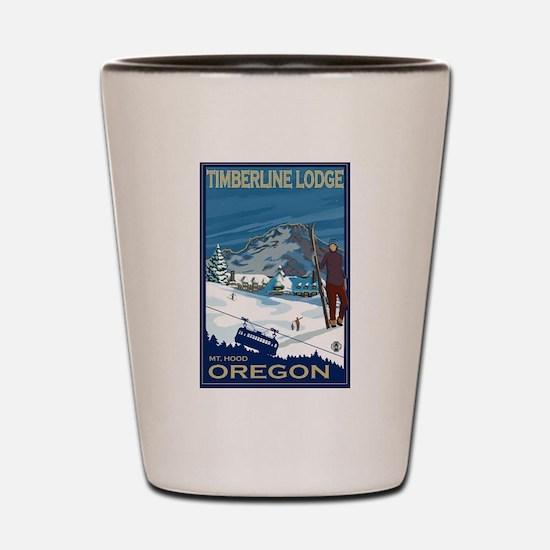 Mt Hood, Oregon - Timberline Lodge Shot Glass