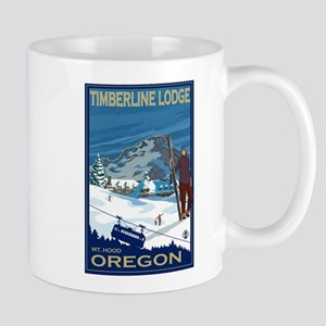 Mt Hood, Oregon - Timberline Lodge Mugs