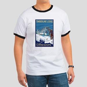 Mt Hood, Oregon - Timberline Lodge T-Shirt