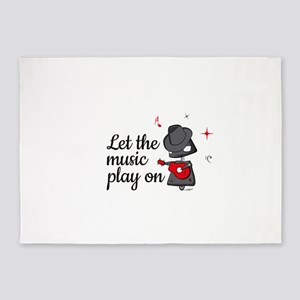 Let the music play on 5'x7'Area Rug