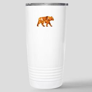 American Black Bear Side Low Polygon Travel Mug