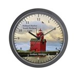 Holland Harbor South Pierhad Light Wall Clock