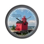 Holland Harbor South Pierhad Light 2011 Wall Clock