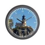Split Rock Lighthouse From Beach Wall Clock