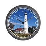 Wind Point Lighthouse Wall Clock