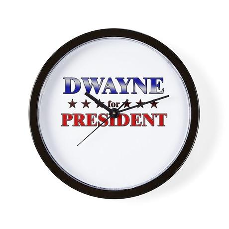 DWAYNE for president Wall Clock