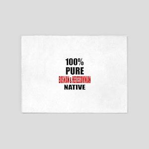 100 % Pure Bosnian & Herzegovinian 5'x7'Area Rug