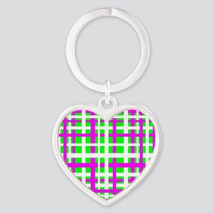 Fuchsia & Green Interlocking Stripes Keychains