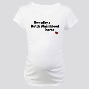 Dutch Warmblood horse Maternity T-Shirt
