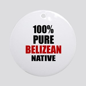 100 % Pure Belizean Native Round Ornament