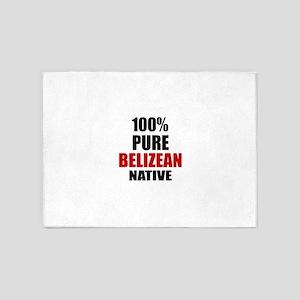 100 % Pure Belizean Native 5'x7'Area Rug