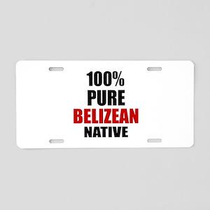 100 % Pure Belizean Native Aluminum License Plate
