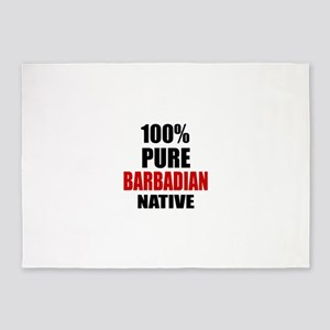 100 % Pure Barbadian or Bajuns Nati 5'x7'Area Rug