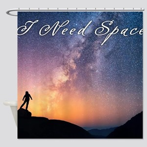 I need space Shower Curtain