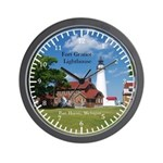 Fort Gratiot Lighthouse Land Wall Clock
