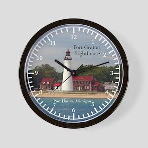 Fort Gratiot Lighthouse Water Wall Clock