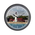 Fort Gratiot Lighthouse Water Wall Clock