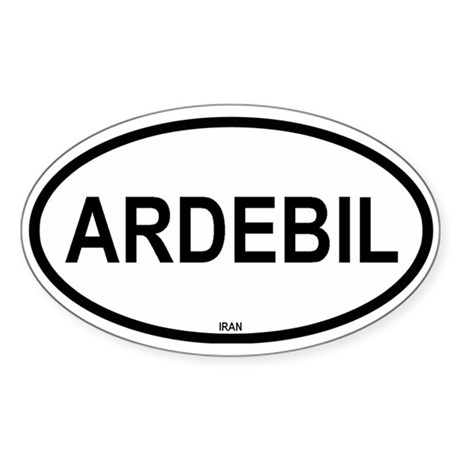 Ardebil Oval Sticker