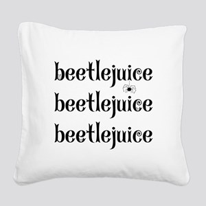 Beetlejuice x 3 Square Canvas Pillow