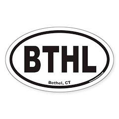 Bethel Connecticut BTHL Euro Oval Decal