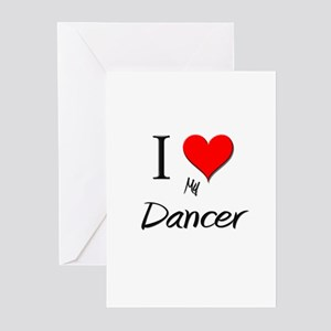 I Love My Dancer Greeting Cards (Pk of 10)
