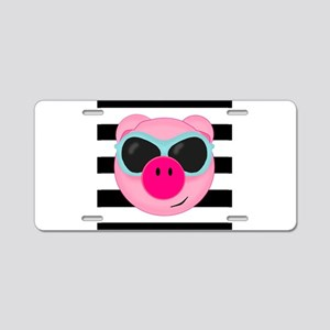 Summertime Pig Aluminum License Plate