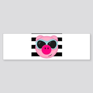 Summertime Pig Bumper Sticker