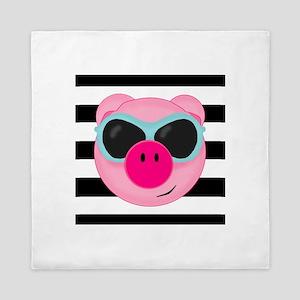 Summertime Pig Queen Duvet