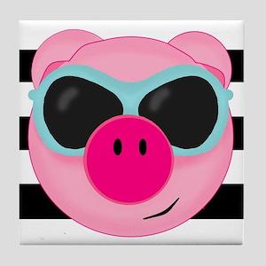 Summertime Pig Tile Coaster