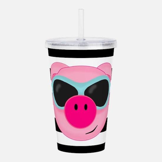 Summertime Pig Acrylic Double-wall Tumbler