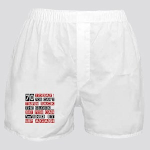 70 Turn Back Birthday Designs Boxer Shorts