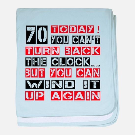 70 Turn Back Birthday Designs baby blanket