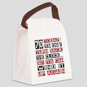 70 Turn Back Birthday Designs Canvas Lunch Bag