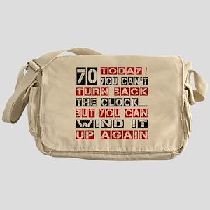 70 Turn Back Birthday Designs Messenger Bag