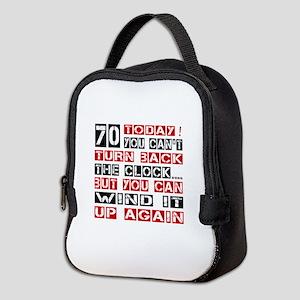 70 Turn Back Birthday Designs Neoprene Lunch Bag