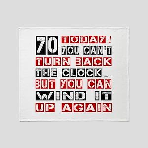 70 Turn Back Birthday Designs Throw Blanket
