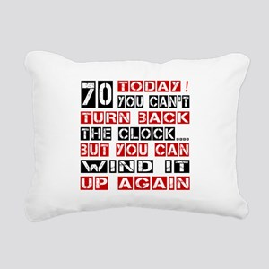 70 Turn Back Birthday De Rectangular Canvas Pillow