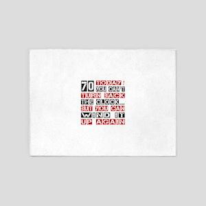 70 Turn Back Birthday Designs 5'x7'Area Rug