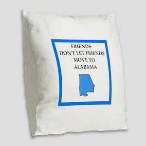 alabama Burlap Throw Pillow