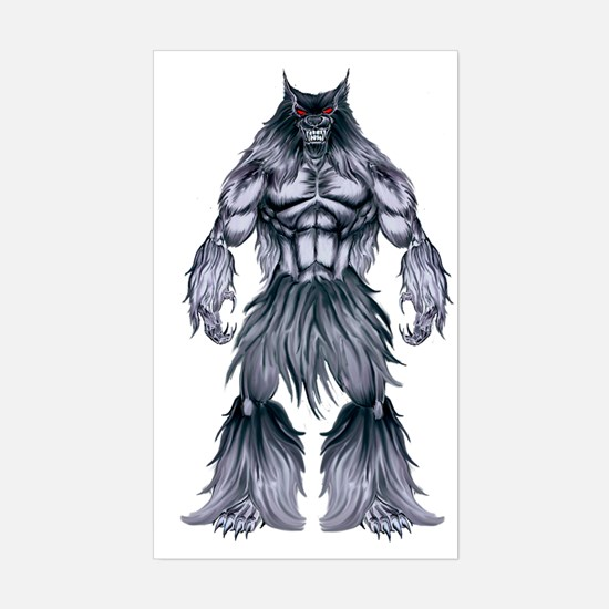 Cute Werewolf Sticker (Rectangle)