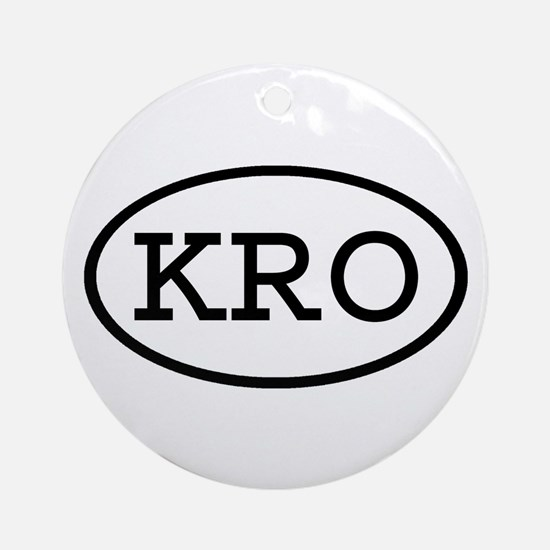 KRO Oval Ornament (Round)