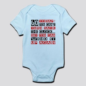 60 Turn Back Birthday Designs Infant Bodysuit